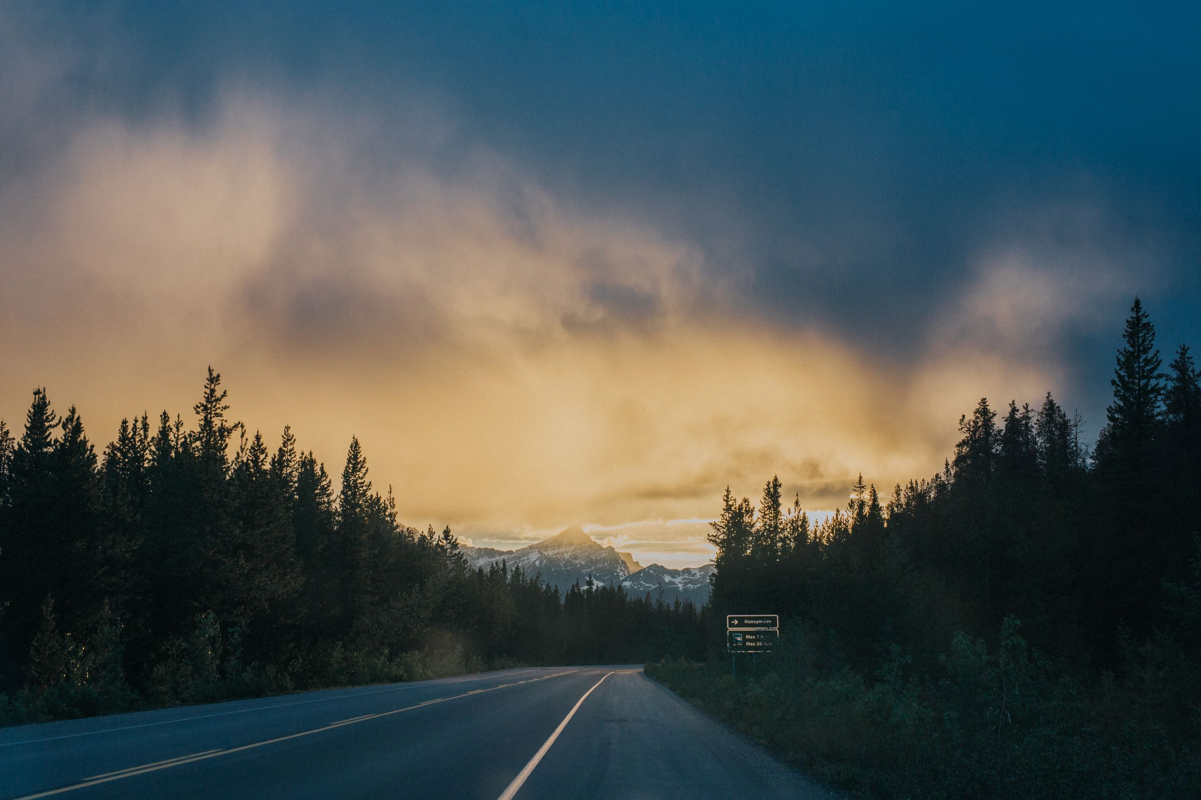 LeClair Media Commercial Photography drive from Banff to Jasper